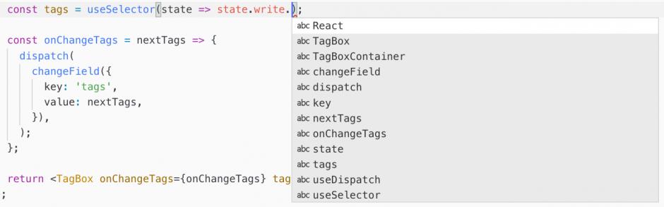 리덕스를 사용 할 때, TypeScript를 사용하지 않으면, 우리가 컴포넌트에서 상태를 조회할때, 그리고 액션생성 함수를 사용 할 때 자동완성이 되지 않으므로 실수하기가 쉽습니다.