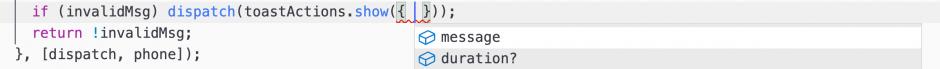 액션 생성함수를 사용 할 때에도 파라미터에 무엇을 넣어야 할 지 리덕스 관련 코드를 열어보지 않고도 확인 할 수 있어서 매우 편합니다.